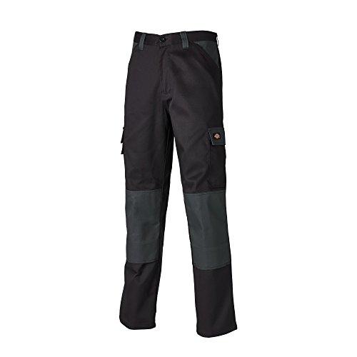 Dickies Mens Everyday Durable Cargo Pocket Work Pants (32T) (Black/Gray)