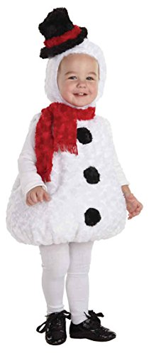 [UHC Baby's Plush Snowman Outfit Holiday Christmas Party Toddler Child Costume, M (18-24M)] (Snowman Halloween Costumes)
