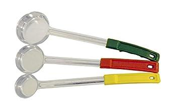 Set of 3 Portion Control Ladles 1oz 2oz 4oz Color Handles Spoodle