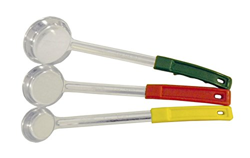 Set of 3 Portion Control Ladles 1oz 2oz 4oz Color Handles Spoodle