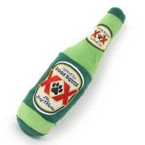 Dogs Equis Plush Beer Bottle (w/ Squeaker) Parody Dog Toy