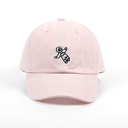 刺繍野球帽 4色利用可能 ユニセックス 調整可能な 綿 カジュアルキャップ,ピンク