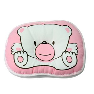 Fashion Cute Bear Anti Roll Pillow Baby Infant Newborn Support Prevent Flat Head