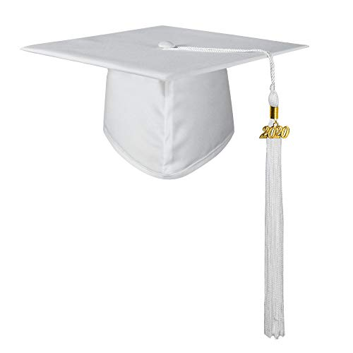 white graduation cap - 1