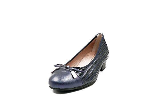 Pitillos En Mujer 608 Trenzado Azul Laminado 5044 La De Marca Color Piel Marino Manoletina RAwfPnqx5P