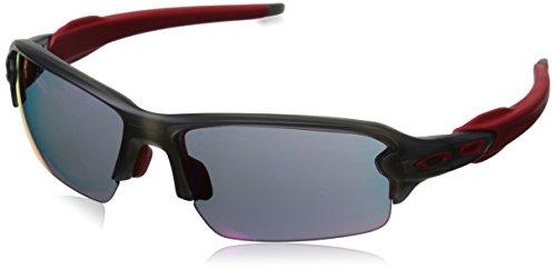 Oakley Men's OO9271 Flak 2.0 Asian Fit Rectangular Sunglasses, Matte Grey Smoke/Positive Red Iridium, 61 mm (Best Sunglasses For Asians)