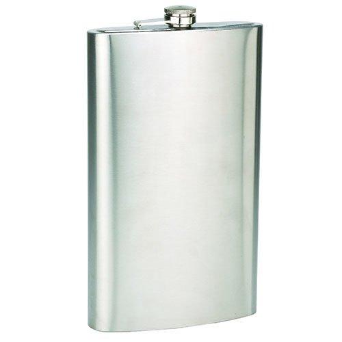 (128oz Ultra Jumbo 1 Gallon Wine Liquor Stainless Steel Flask with Optional Laser Engraving Gift Set)