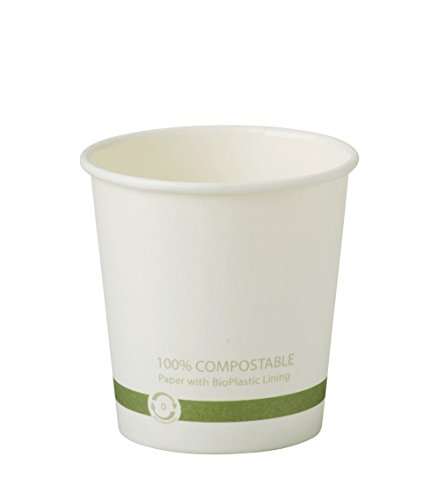 World Centric CU-PA-4 SCS-COC-002849 Compostable FSC Mix Paper Hot Cups, 4 oz. (Pack of 1000)