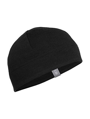 Icebreaker Sierra Beanie, Black, One Size (Hat Wool Ibex)