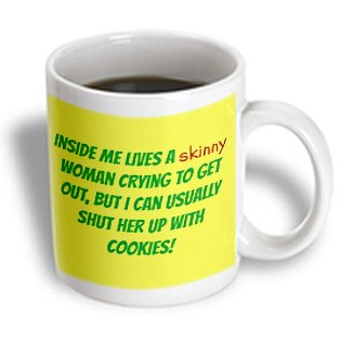 Mug 180048 1 Xander Funny Quotes Inside Me Lives A Skinny Woman Green Letters On Yellow Background Mugs 11oz Mug Buy Online In Kuwait At Desertcart Com Kw Productid 3340427