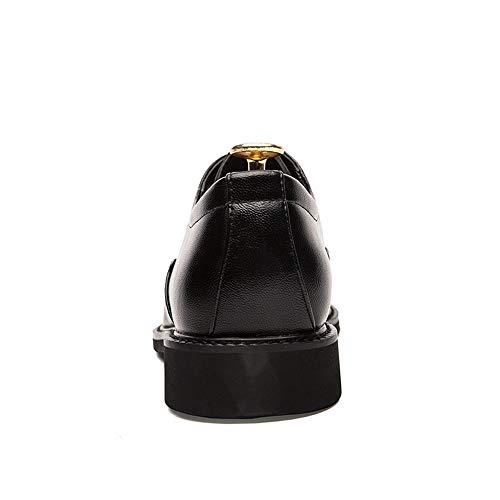 Antideslizantes De Cuero Respirables Ocasional Pu Hombres Negro Moda Los Manera La Oxford Brogue Zapatos fwIETnxqt4