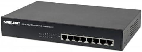 8-Port Fast Ethernet PoE Plus Switch in Black 561075