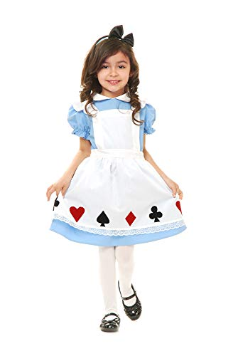 Charades Toddler Girl's Child's Storybook Alice Costume Childrens Costume, multi/color, Toddler