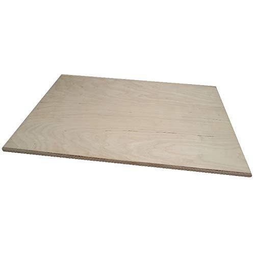 Ausrollbrett aus Holz Birkenholz-102x 59x 1, 2(H.) cm mit Stopper 2(H.) cm mit Stopper Erretre srl