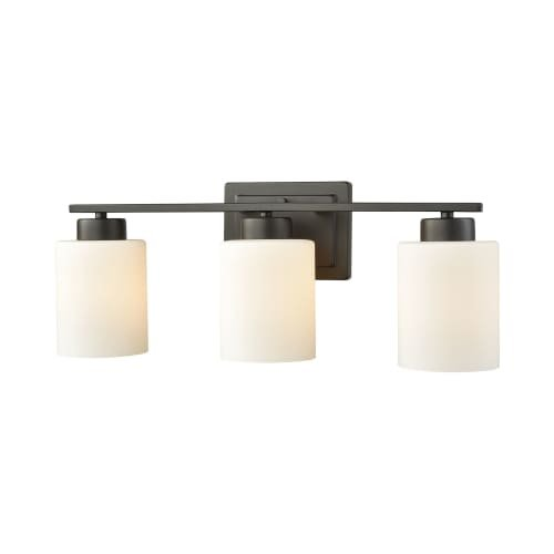 Thomas Lighting Summit Place 3 Light Bath In Oil Rubbed Bronze With Opal White Glass (Thomas Lighting Bronze Lighting)