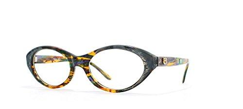 Emmanuelle Khanh - Monture de lunettes - Femme Gris Grey Orange