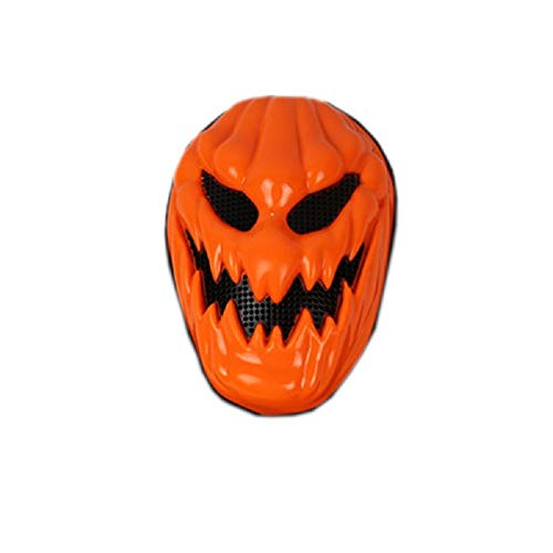 Happy Ghost Halloween Costume (Halloween Scary Pumpkin Masks Skull Ghost Full Face Creepy Mask for Halloween Costume Fancy Dress Party)