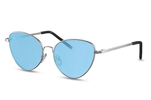 métal faite Monture Femmes chat de Style Rondes de UV400 yeux Arenté2 Lunettes de Cheapass soleil 4CgwFOq