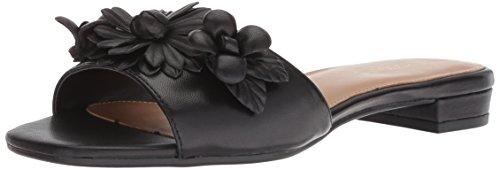 Aerosoles Women's PIN Down Slide Sandal, Black Leather, 7.5 M US