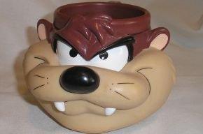 Amazon Com Looney Tunes Plastic Taz Tasmanian Devil Mug
