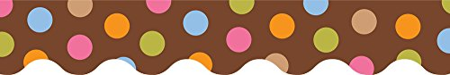 Wavy Border - Creative Teaching Press Dots on Chocolate Wavy Border (6516)