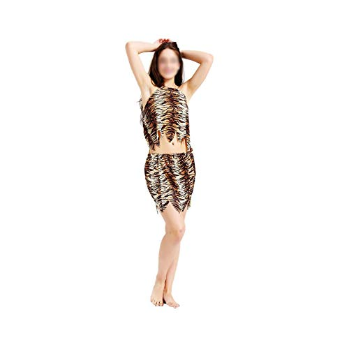 Adult Savage Costume Caveman Cosplay Set for Party Halloween Dress Up]()