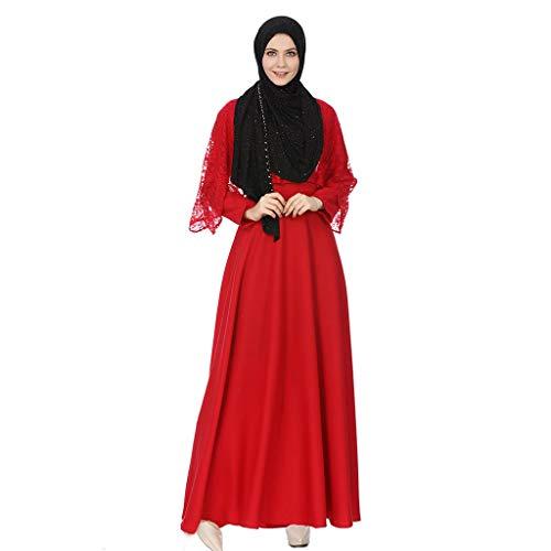 Musulmani Lungo Raily Robes islamico Dubai Abito rosso Abaya per unita Abiti Donna arabo l'elegante Tinta Musulmano Turco Maxi Kaftan wqtXqRdx