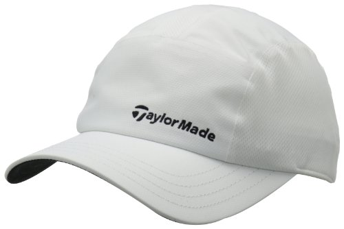(TaylorMade Women's Litetech Hat, White, Adjustable)