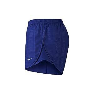 NIKE Womens 3 Tempo Modern Embossed Running Short Deep Royal Blue/Reflective Silver Shorts - Small