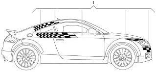 AUDI Genuine 8J7060306 Roadster Graphics Kit