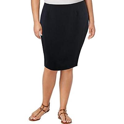 Le Suit Womens Jacquard Office Pencil Skirt
