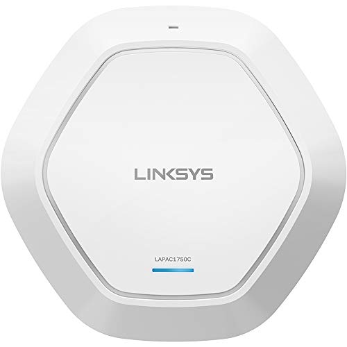 Linksys Business AC1750 Wifi Cloud Managed Access Point with Remote Centralized Management & Real-time Insights on Network Activity, 802.11ac, PoE (LAPAC1750C) from Linksys