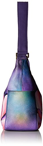 Anuschka Hand Painted Leather Women'S Classic Hobo with Side Pockets, Magnolia Melody by Anna by Anuschka (Image #3)