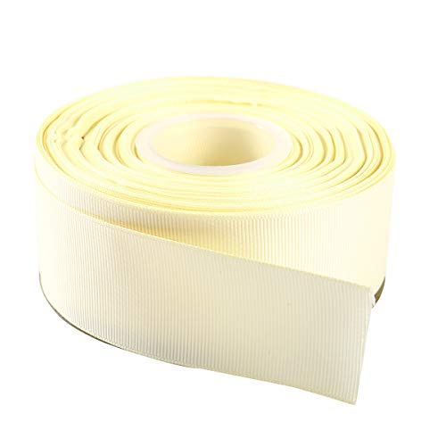 ITIsparkle 11/2 Inch Grosgrain Ribbon 25 Yards-Roll Set For Gift Wrapping Cake Decoration Party Favor Hair Braids Hair Bow Baby Shower Decoration Floral Arrangement Craft Supplies, Ivory Ribbon