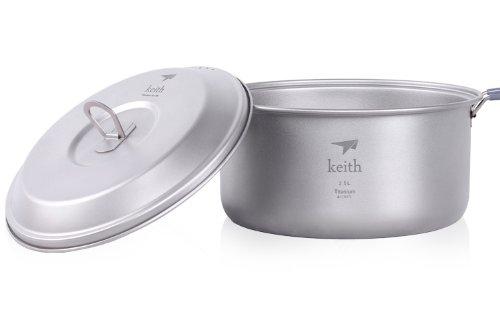 Keith Camping Kochgeschirr im Freien Kochgeschirr Topf Titanium Pot
