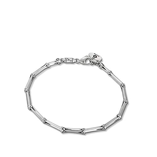 - John Hardy Women's Bamboo Silver Pancing Slim Bracelet, Size M