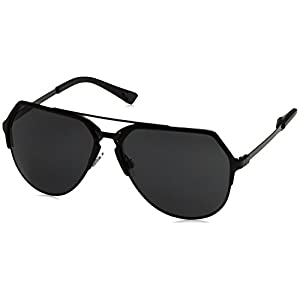 Dolce and Gabbana DG2151 110687 Black 2151 Aviator Sunglasses Lens Category 3 S