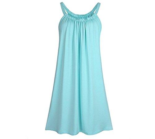 Big yards women's clothing loose condole belt dress (XL, Powder (Dress Ups For Adults)