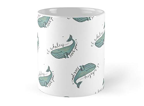 I Whaley Love You 11oz Mug - Made from Ceramic - Best gift for family friends. ()