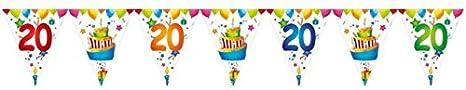 Multicolore 15 Fanions 18-26,50 cm X 6 m Ptit Clown 40418 Guirlande