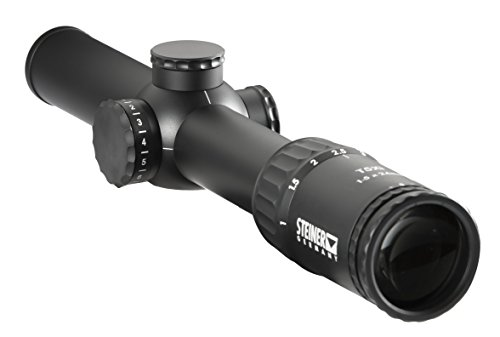 Steiner T5Xi 1-5 x 24mm Riflescope, 3TR 5.56mm Reticle