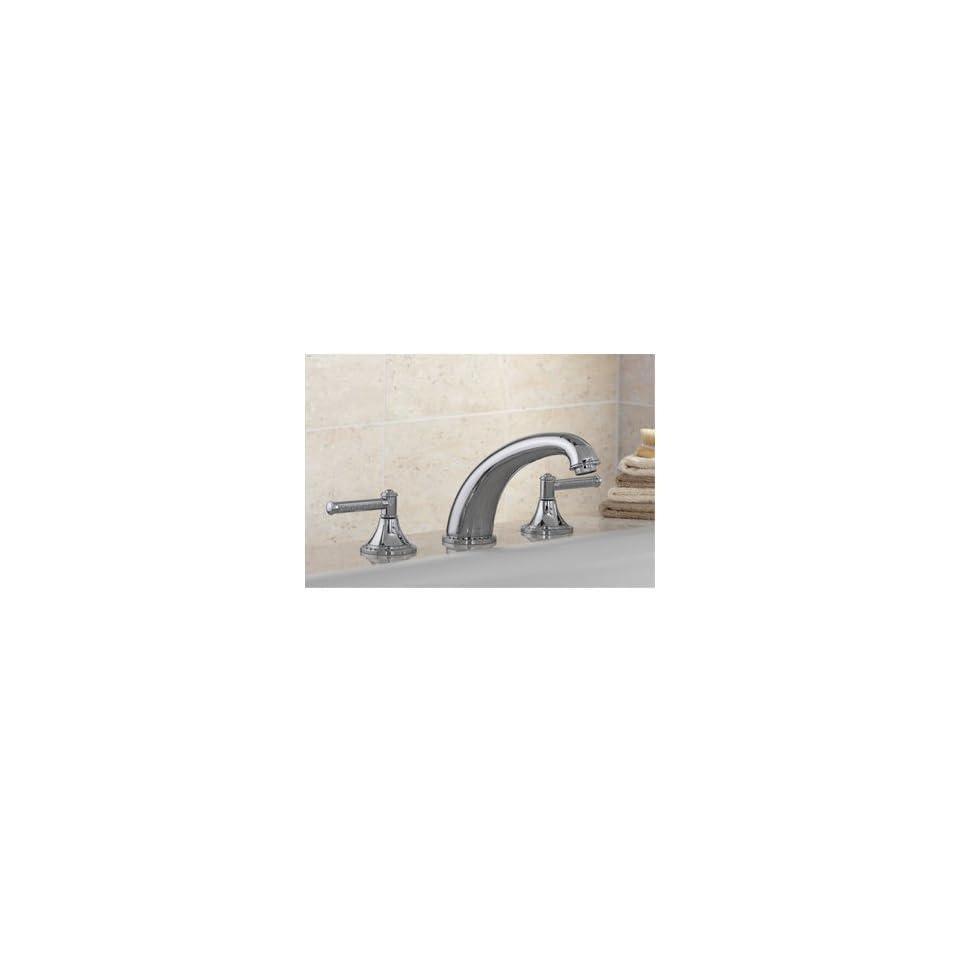 Mico Designs 2850 D1 CP Polished Chrome Bathroom Faucets Deckmount 3 piece Tub Filler Faucet Lever Handles