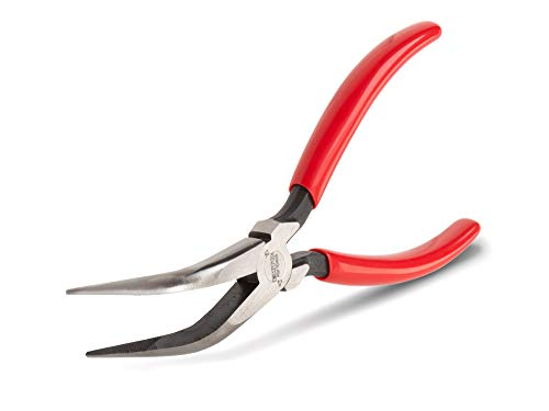 TEKTON 6-Inch 70-Degree Bent Long Nose Pliers | PGF10406