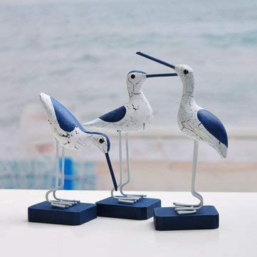 Mediterranean Style Ornaments Creative Seabirds Furnishing Decoration - Decorative Crafts Furnishing Articles - 3pcs X Seabirds(Three different styles)
