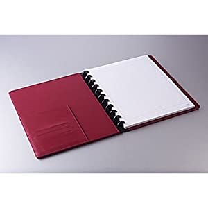 "Staples Arc Customizable Leather Notebook System, Burgundy, 9-1/2"" x 11-1/2"", Each/Pack (23244)"