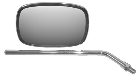 Diecast Replacement Mirrors - Emgo 20-21710 10mm Left/Right Side Rectangular Die-Cast Screw-in Replacement Mirror