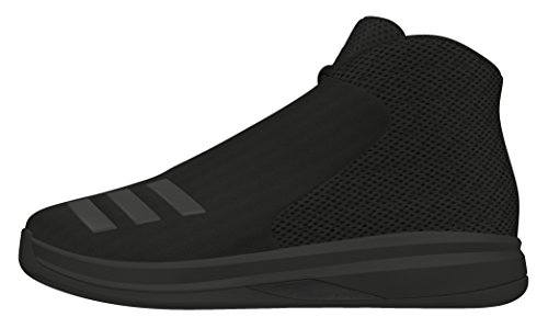 adidas Court Fury 2016 K, Zapatillas de Baloncesto Para Niños Negro (Negbas / Negbas / Negbas)