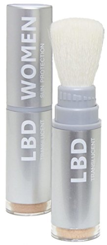 La Bella Donna Natural Mineral Women's Waterproof SPF 50 Powder Sunscreen with Exclusive Dial System Dispensing Brush - 5g (Light to Medium (Powder Dispensing Brush)