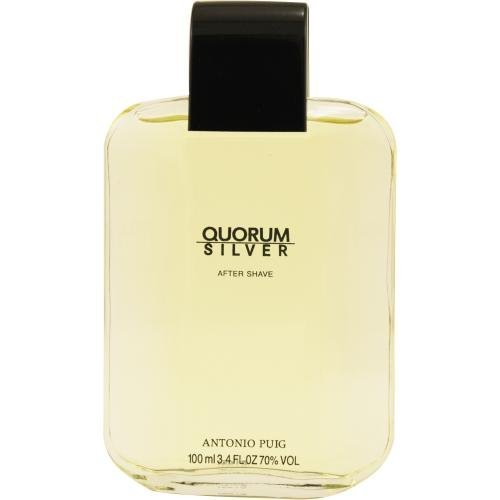 (QUORUM SILVER by Antonio Puig AFTERSHAVE 3.4 OZ for MEN ---(Package Of)