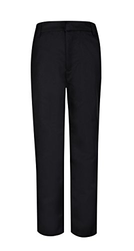Bienzoe Boy's School Uniforms Durable Adjustable Waist Dress Pants Black 8 ()
